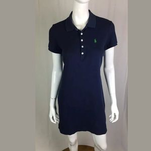 Polo Ralph Lauren Navy Cotton Rugby Shirt Dress